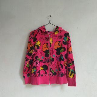 hoodie jaket disney minnie fullprint