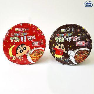 韓國直送蠟筆小新即食辣炒年糕炸醬年糕