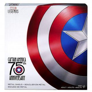 Preorder - New Hasbro Marvel Legends Marvel The Avengers 75th Anniversary Captain America Vibranium Metal Shield