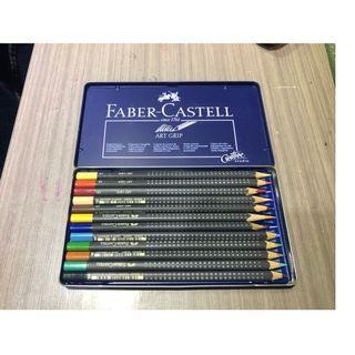 faber castell 油性色鉛筆12色 (九成新)
