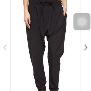 Cotton on drop crotch harem jogger pants drawstring pockets
