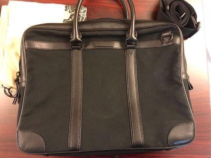 Burberry Men Gabardine Briefcase