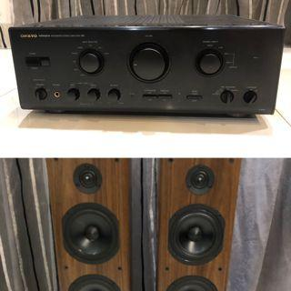 Offer! Onkyo A-807 with AE Acoustic Energy Neo Three floorstand!!