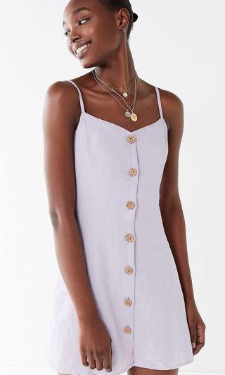 🚚 Urban Outfitters Sleeveless Lilac Linen Dress