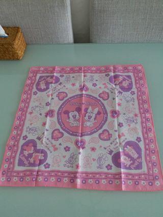 Disney 米妮 Minnie 方巾/紗巾 (包郵)