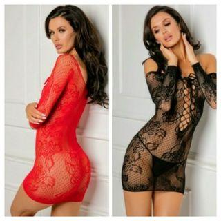 New Stretch Lace Stocking Dress Boxed by Rene Rofe One Size Standard