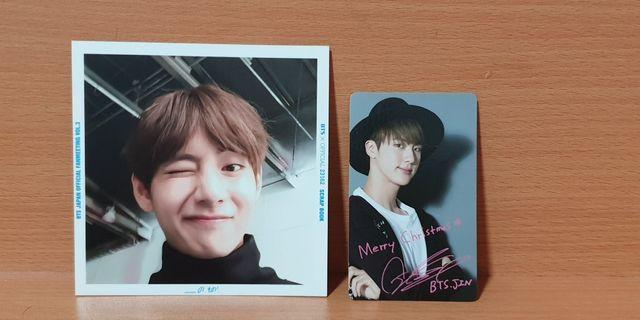 🚚 Taehyung japan fanmeeting vol.3 scrabook polaroid and jin inu christmas edi official jap pcs