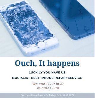 15min iPhone Screen Crack Repair , iPhone 7 LCD Repair
