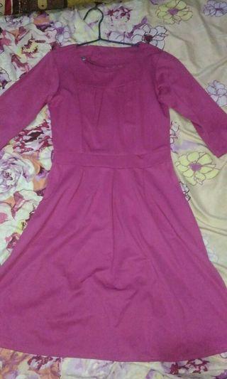 #BAPAU Dress wanita pink