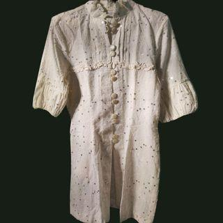 #MAUVIVO Gaun Putih Remaja Manik Payet