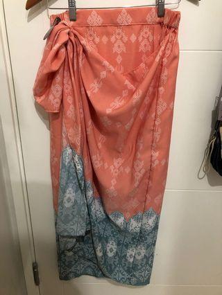 Rok Batik/Motif Warna Peach/Salem, Instan Kain