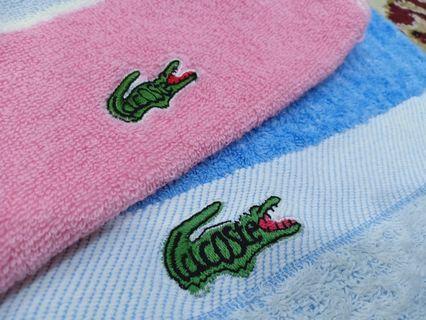 Lacoste bath n sports gym towel