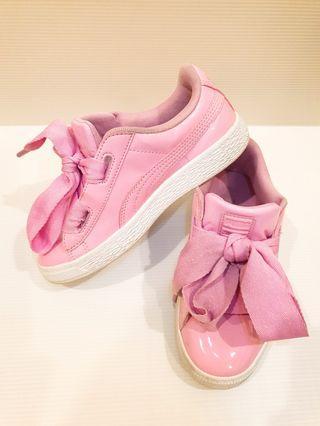 Puma Basket Heart 緞帶童鞋 粉紅 8成新
