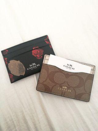 Authentic Coach Leather Card Holder
