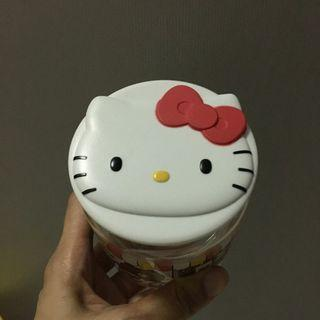 $2 Hello Kitty glass container