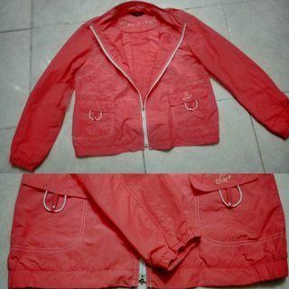 #MAUVIVO Jaket Remaja Putri Merah Muda Peach Fashionable