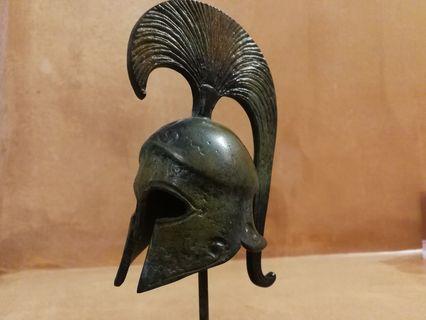 Bronzn Metal Helmet