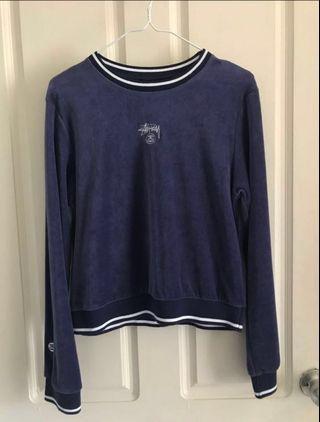 Stussy Blue Velvet Sweater