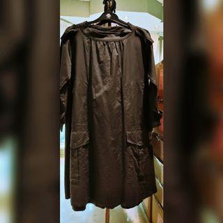 Pre❤ A line dark grey dress