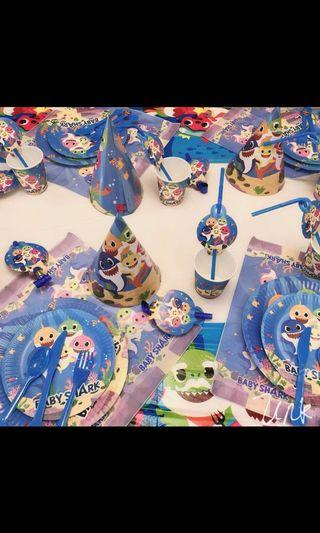Instock now !! New arrival pinkfong baby shark party items and goodies bag brand new price from $3.50 , pm for details