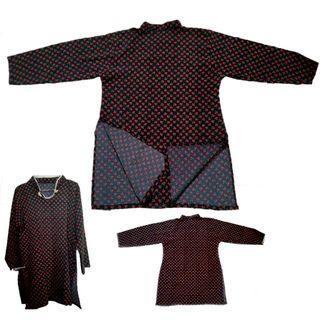 #MAUVIVO Baju Atasan Wanita Model Jepang Black Flower