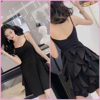 Instock!! Great Sale!! Price Greatly Reduced!! Brand New With Tag Super Sweet And Sexy Korean Style V Cut Front/V Cut Neckline/V Neck Low Back Ruffles Back Design Spaghetti Straps Skater/Flare/A Line Party/Dinner Dress