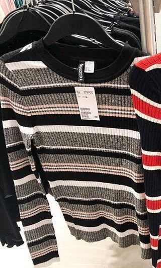 Dicari knited sweater stripe h&m