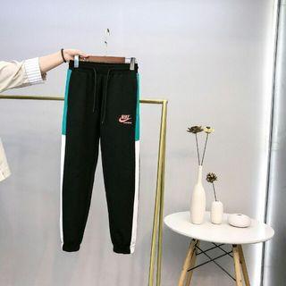 NIKE 耐克最新海外款 彩色拼接衛褲