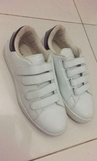 Rubi White Strap Sneakers