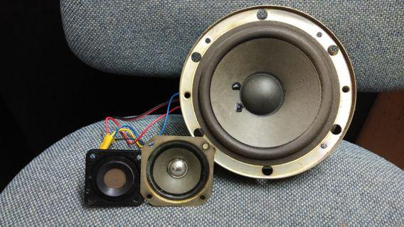 Speaker technics woofer, mid & tweeter