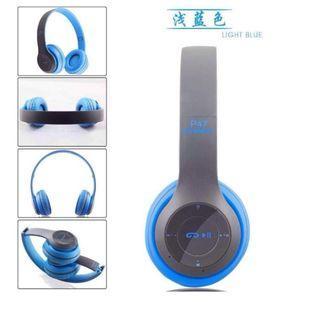 P47 頭戴式藍芽耳機 重低音 運動藍牙耳機 藍牙4.2 重低音 無線藍牙折疊式耳機