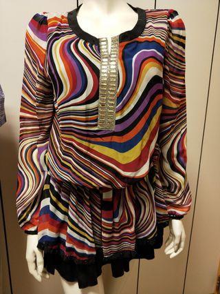 🚚 精品彩色亮麗造型長版衣