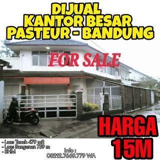 Dijual Rumah Kantor Besar Pasteur Bandung Strategis