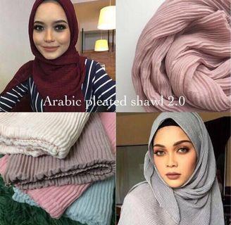 Arabic pleated shawl
