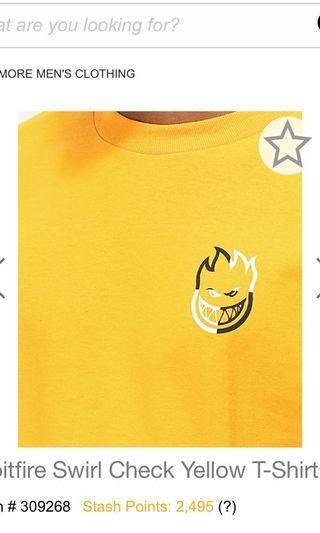 Spitfire 黃色 短袖 滑板 潮牌