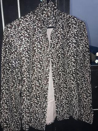 Kemeja/ Flannel Leopard