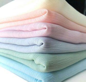 Crinkle Plain Shawl/Crinkle Long Shawl