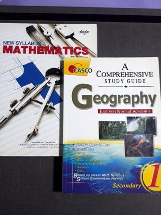 Secondary 1 Textbooks / Activity books