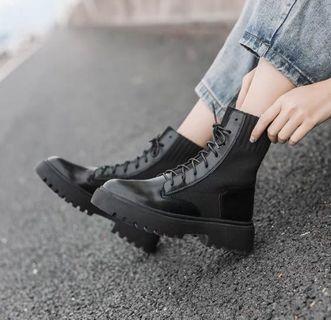 厚底馬汀襪靴~