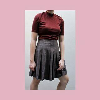 MNG pleated skirt