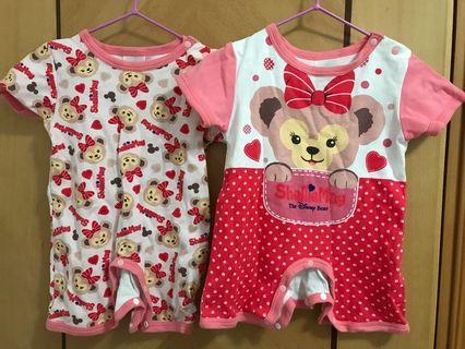 正版Disney duffy 嬰兒短袖連身短袖衣 bb 70 女 baby tee t-shirt