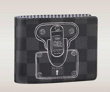 🚚 Louis Vuitton Damier Graphite Multiple Wallet (Limited edition; Illustre Collection)