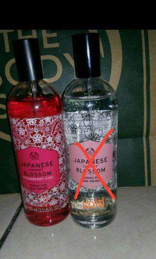 The Body Shop Parfume Japanese Cherry Blossom and Strawberry Kiss