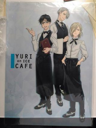冰上的尤里yuri on ice cafe限定 A3透明膠海報 poster
