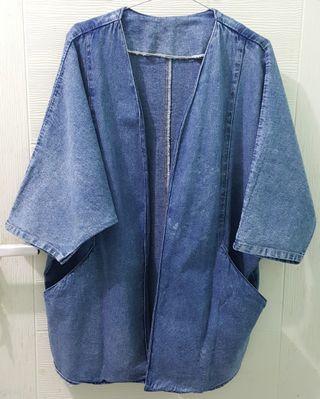 Kimono Denim Outer All Size