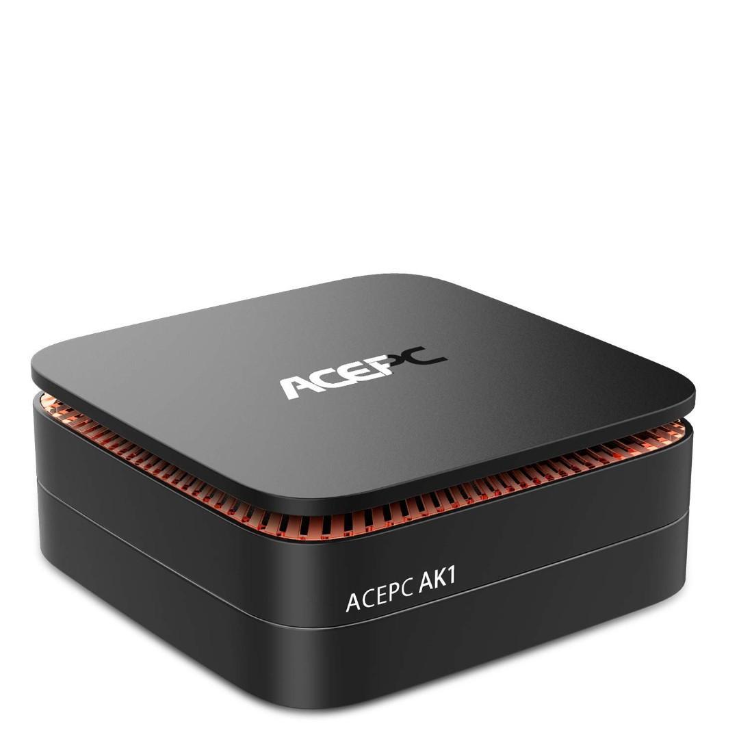 (272)ACEPC AK1 Licensed Windows 10 64Bit Mini PC Intel Celeron J3455 4GB/32GB SATA 3.0 USB3.0 Type-C AC WIFI Gigabit LAN