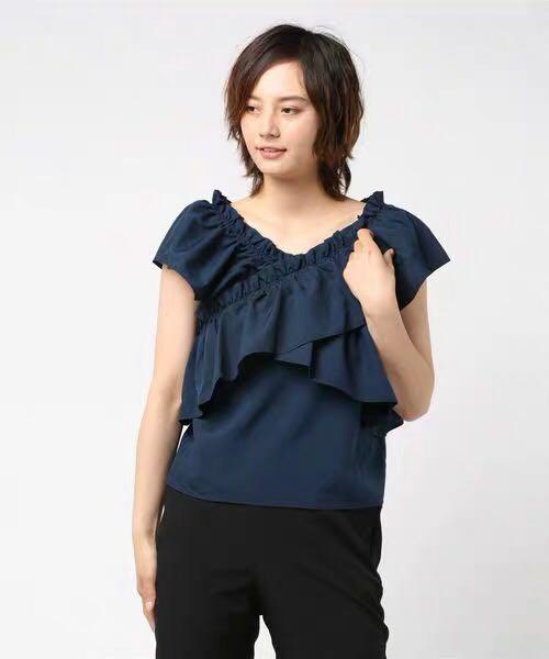2色💕日系交叉荷葉邊無袖上衣 Japan cross ruffles top