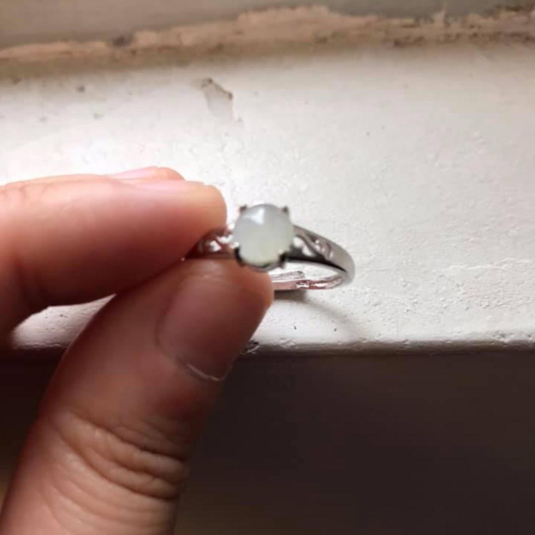 翡翠純銀戒指3隻