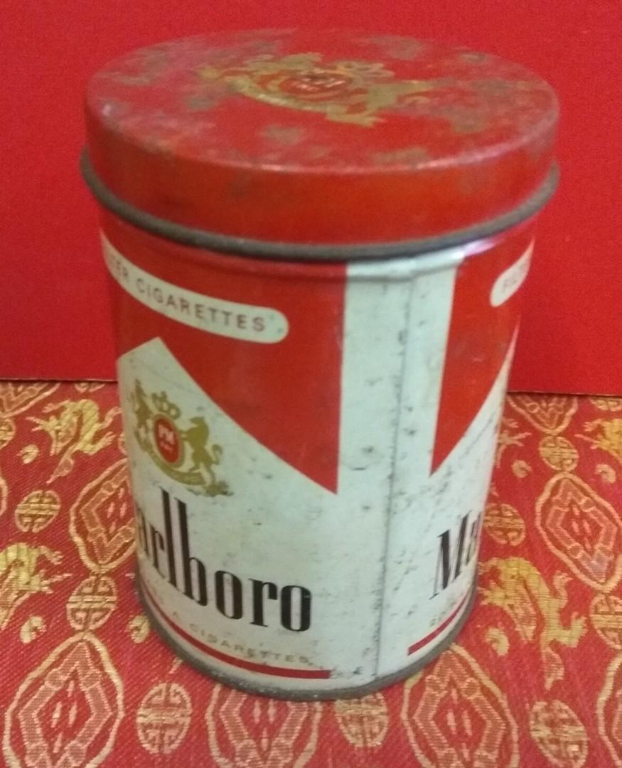 懷舊收藏70年代萬寶路Marlboro香煙鐵罐