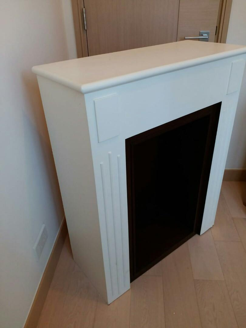 古典法國風格白色木柜